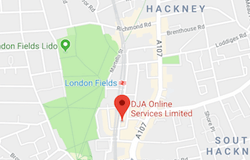 DJA Online Services Map E8 3DQ